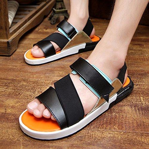 Il pattino dei pattini dei sandali dei nuovi uomini della molla dei pattini di tendenza delle scarpe da mare, arancione, UK = 9, EU = 43 1/3