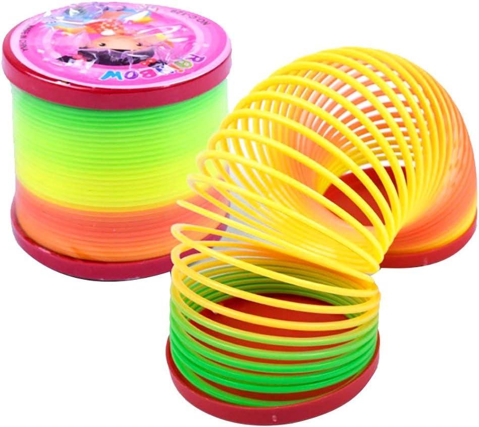 Leayao - 1 pieza de juguete para niños con arco iris, anillo de resorte clásico creativo, juguetes Jenga: Amazon.es: Bricolaje y herramientas