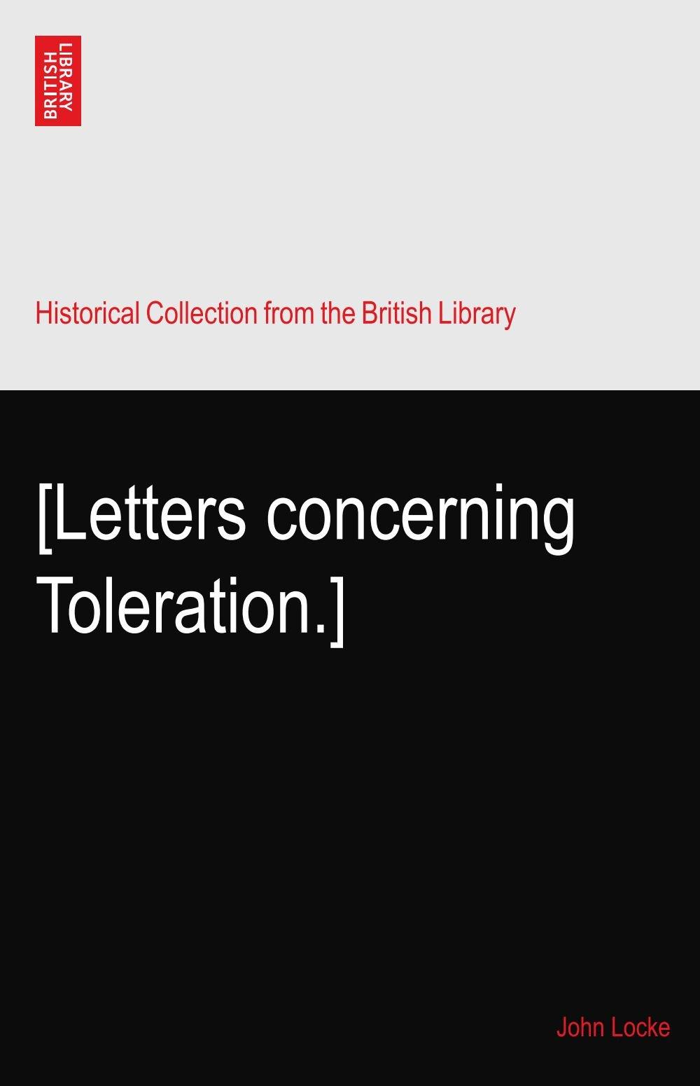 Download [Letters concerning Toleration.] PDF