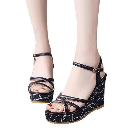 9ea300ec1a7d Amazon.com  Gyoume Womens Sandals