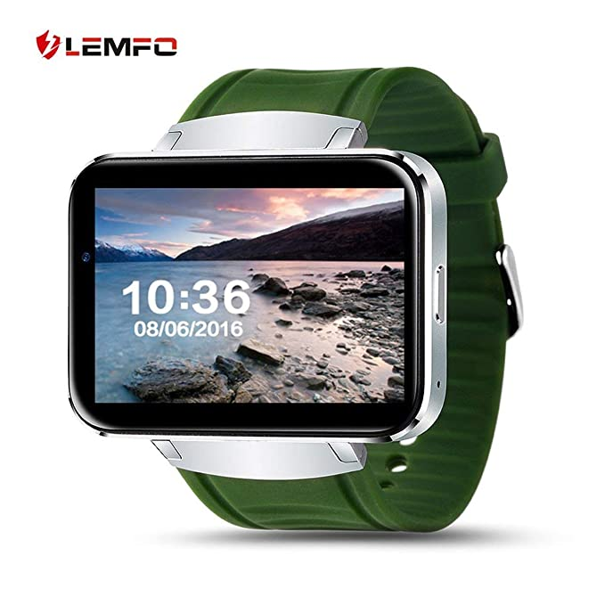 Amazon.com: LEMFO LEM4 2.2 Inch Screen GPS Map Weather Checking Smart Watch For Android(Color:green): GPS & Navigation