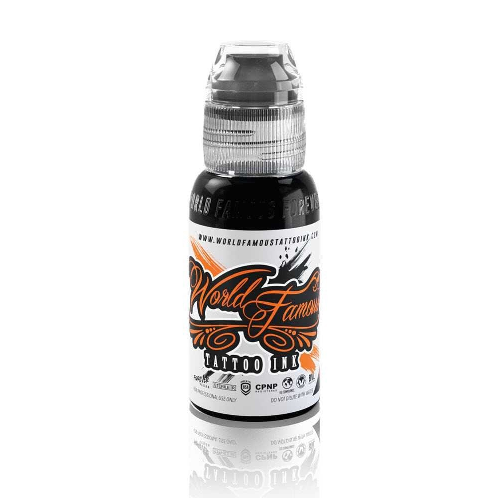 World Famous Tattoo Ink – Vegan-Friendly Professional Tattooing Inks – Pitch Black, 1 Ounce by World Famous (Image #1)