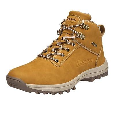 64f11da519c9 Oyedens Herren Damen Winterschuhe Warm Gefüttert Winter Stiefel Kurz Schnür  Boots Schneestiefel Outdoor Freizeit Schuhe (