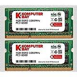 Komputerbay 日本進出記念 8GBメモリ 2枚組 DDR3 1066 4GBX2  DUAL 204pin 1066MHz SODIMM ノート パソコン用 増設メモリ 4GB デュアル Apple