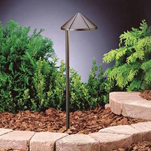 Kichler  15815AZT27 Side Mount 4W 2700K Design Pro LED 12V Path & Spread Landscape Fixture, Textured Architectural Bronze Finish