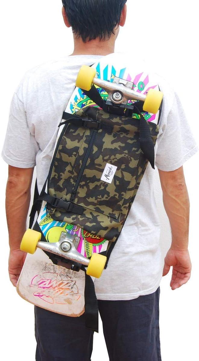 Rucksack zum Tragen von Longboard und Skateboard Camo