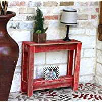 Red End Table