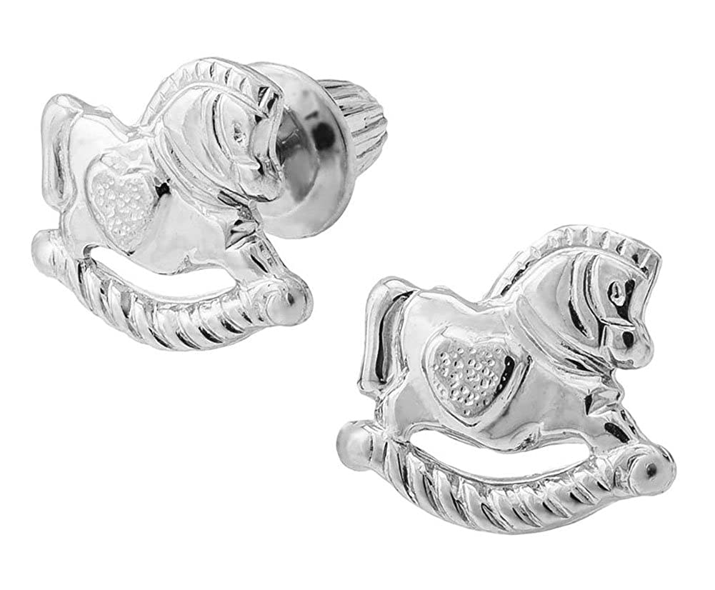 JAMBS JEWELRY STERLING ROCKING HORSE EARRING FOR CHILDREN