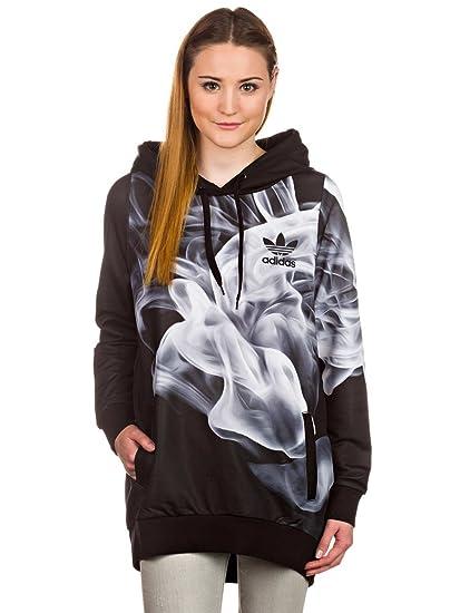 Adidas Originals X Rita Ora White Smoke Hoodie Black Hooded