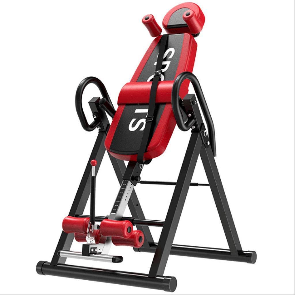 LY88エクササイズフィットネス反転テーブル重力ヘビーデューティーターンテーブル、調整可能なヘッドレスト、保護ストラップリアストレッチャー