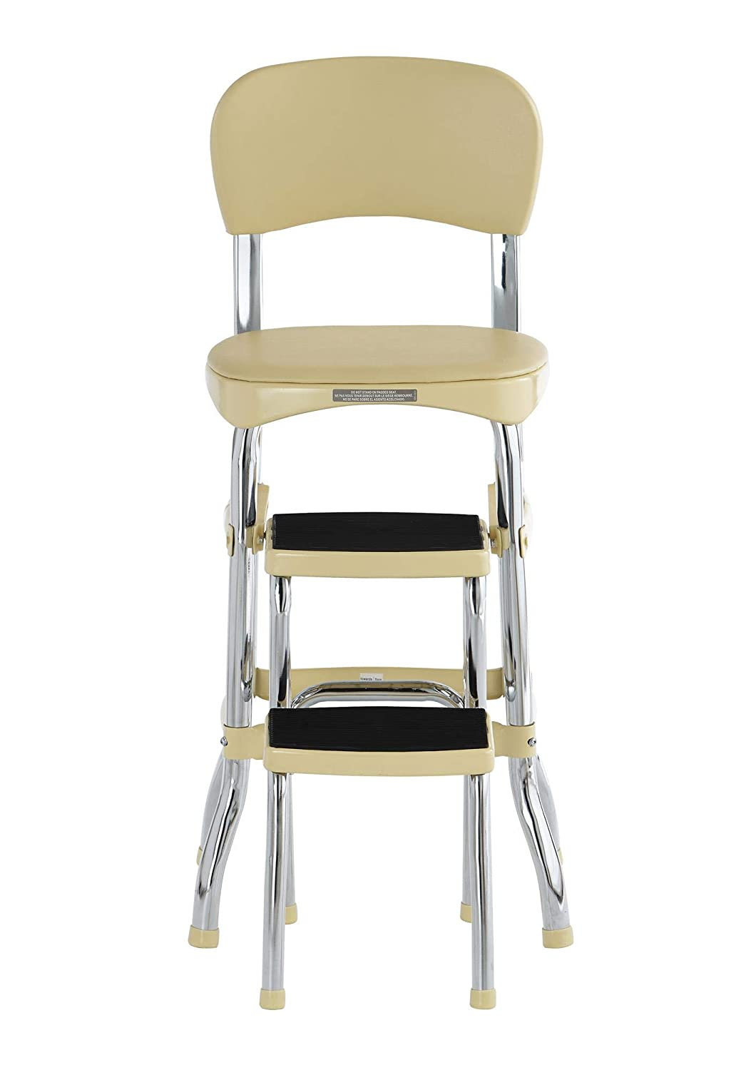 Yellow COSCO 11120CBY1E Stylaire Chair and Step Stool