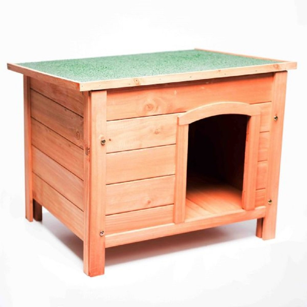 Large 116 x 82cm PaylesswithSS Traditional Flat Top Dog Kennel (Large 116 x 82cm)