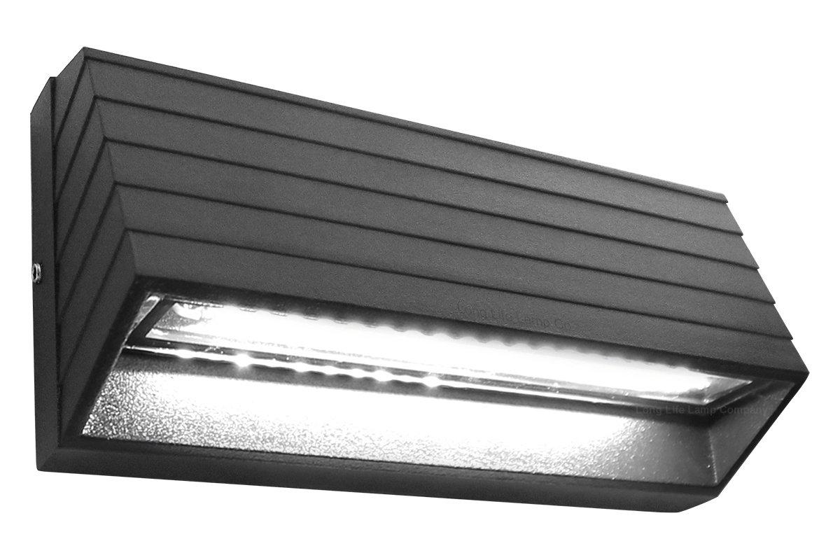 Modern LED Wall Light Down or Up Path Brick Surface Mount Light Matt Black Cool White ZLC039CW