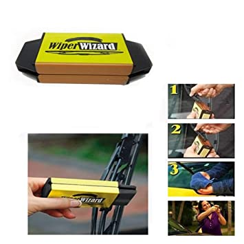 tradeshoptraesio - Regenera Limpiaparabrisas Escobillas máquina Wiper Wizard Express Coche + 5 Paños: Amazon.es: Coche y moto