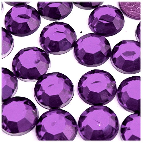 Gem 20mm - The Crafts Outlet 72-Piece Round Rhinestones, 20mm, Purple Amethyst