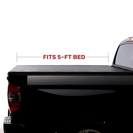 North Mountain Soft Vinyl Roll Up Tonneau Cover Fit 16 19 Toyota