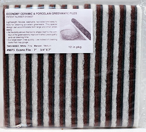 (Creative Hobbies GF Large Ceramic & Porcelain Greenware Cleaning Abrasive Files, 7 Inch x 3/4 Inch, Pack of 12)