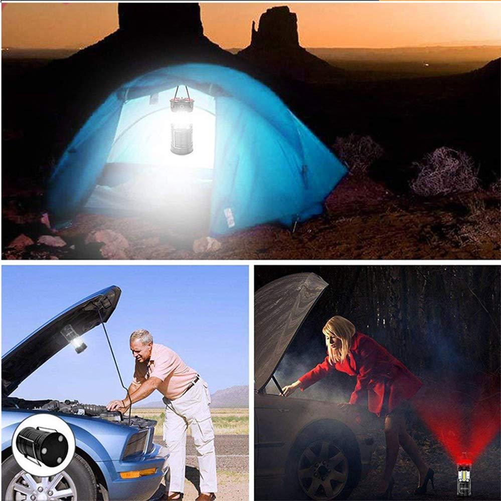 lampe de camping p/êche Lanternes de camping festivals. lampe dext/érieur lampe r/ésistante pour camping USB 2 en 1 portable pliable lanterne COB abri de p/êche