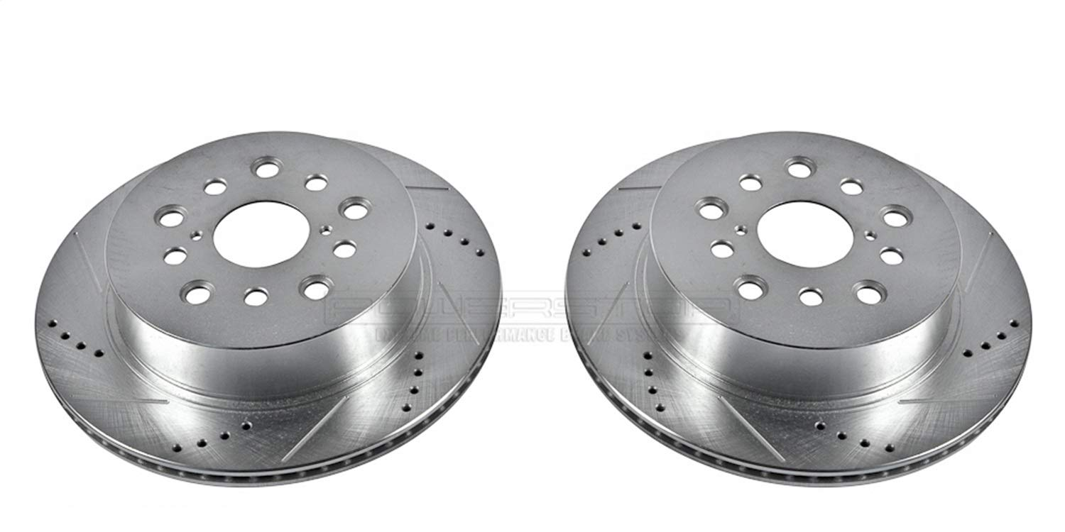 Power Stop JBR939XPR Rear Evolution Drilled /& Slotted Rotor Pair