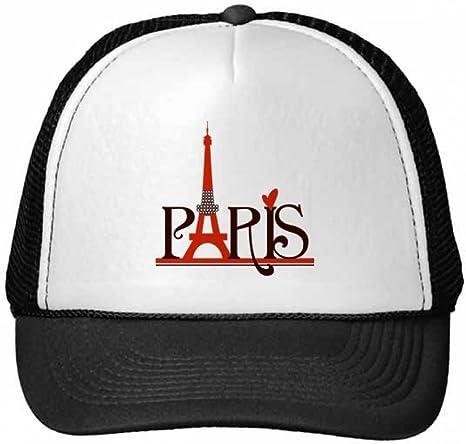 DIYthinker Gorra de béisbol de la Torre Eiffel París Francia País ...