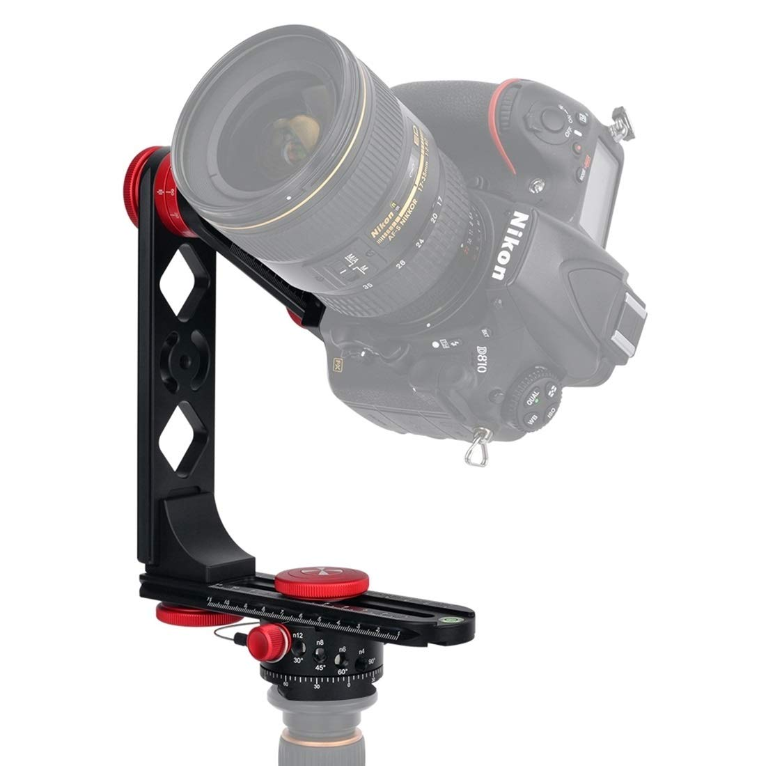 HEGUANGWEI Camera Mount 720 Degree Panoramic Aluminum Alloy Ball Head Quick Release Plate Kits Photography by HEGUANGWEI