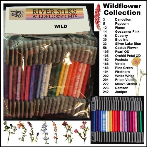 River Silks Wildflower Mix - 4mm Ribbon by River Silks Ribbons