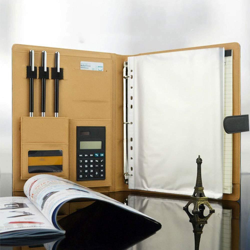Goodjobb Multi-Function Manager Folder with Calculator Business Document Holder Travel Folder,Black by Goodjobb (Image #4)