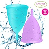 Blossom Menstrual Cups Set of 2 Cups (Sm Blue & Lg Purple)