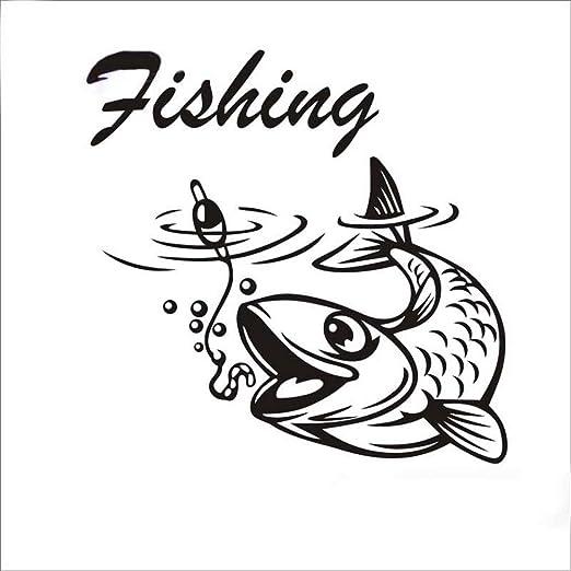 Pegatina De Pared Frases Pegatina De Pesca Calcomanías De
