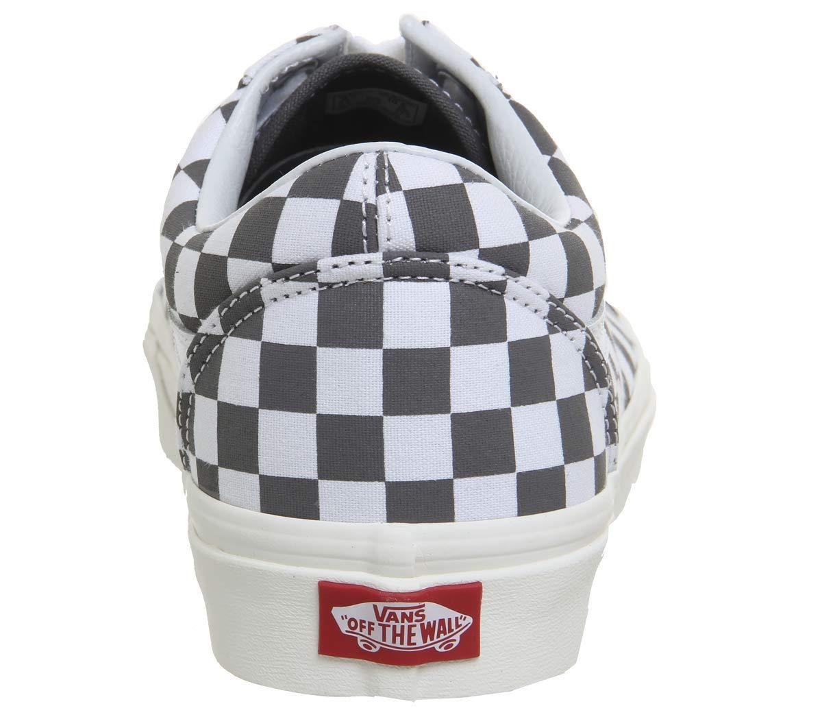 Vans Sneaker, Unisex-Erwachsene Old Skool Leder Sneaker, Vans Schwarz Grau Weiß ec9727