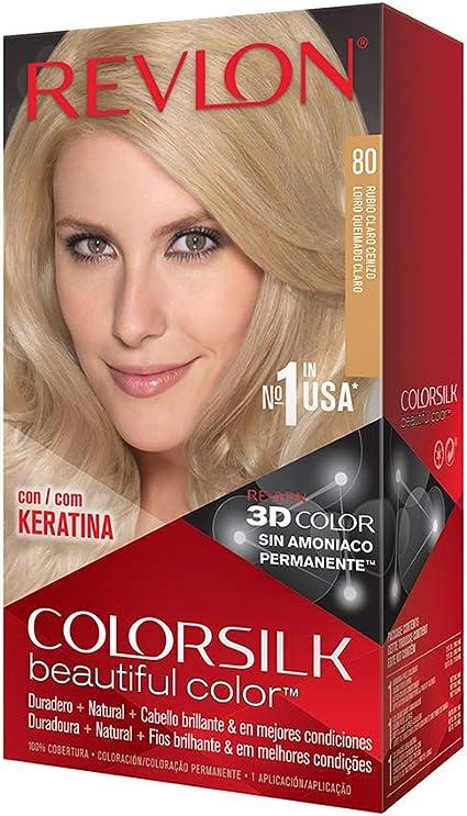 Revlon Colorsilk - Tinte, color 80-rubio medio cenizo, 200 gr ...