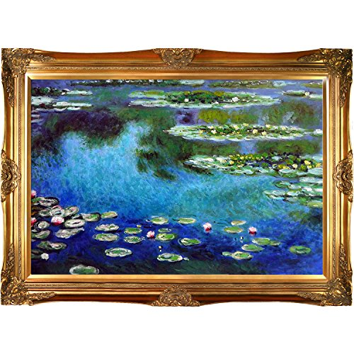 overstockArt Monet Water Lilies Painting with Victorians Gold Finish (Gold Victorian Frame)