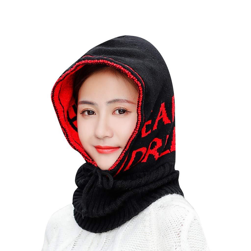 CUTUDE Unisex Winter Balaclava Mask Fleece Hood Warmer Ski Plus Velvet Neck Cap Beanie Wild Windproof Cold Riding Bike Earmuffs Knitted Hat Wind Resistant for Women and Men