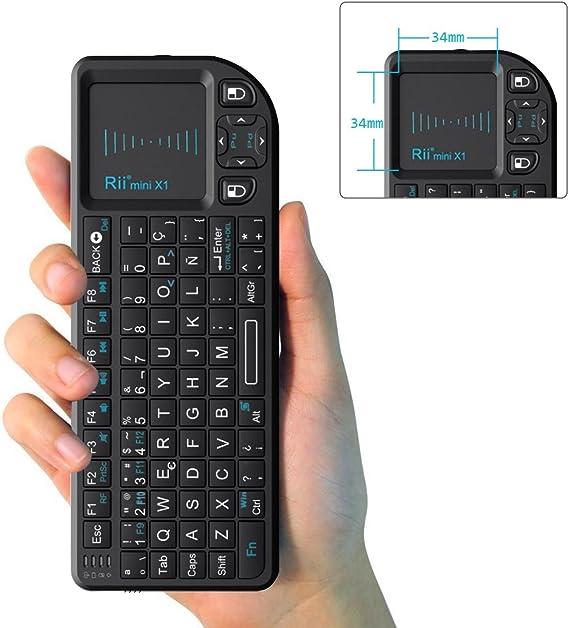 Rii Mini X1 teclado inalámbrico con ratón táctil: Amazon.es ...