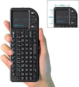Rii Mini X1 teclado inalámbrico con ratón táctil: Amazon.es: Electrónica