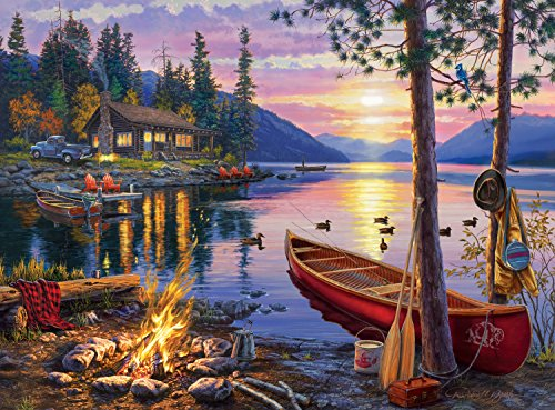 Adult Puzzle (Buffalo Games Darrell Bush - Canoe Lake - 1000 Piece Jigsaw Puzzle)