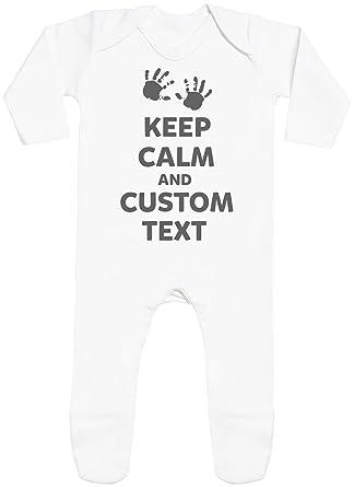 Regalos Bebe Personalizados Amazon.Personalizados Bebe Keep Calm With Feet Peleles