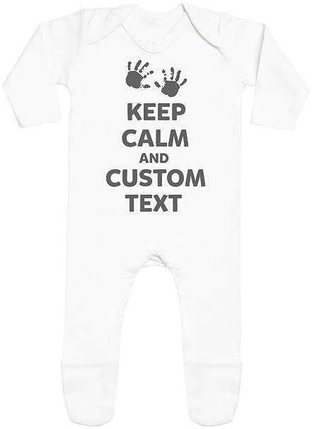 65480b52e Personalizados bebé Keep Calm with Feet - peleles personalizados para bebé  - regalos personalizados para bebé  Amazon.es  Ropa y accesorios