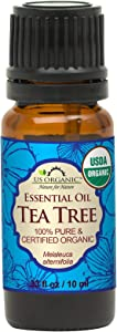 US Organic 100% Pure Tea Tree Essential Oil - USDA Certified Organic - 10 ml - w/Improved caps and droppers (More Size Variations Available)