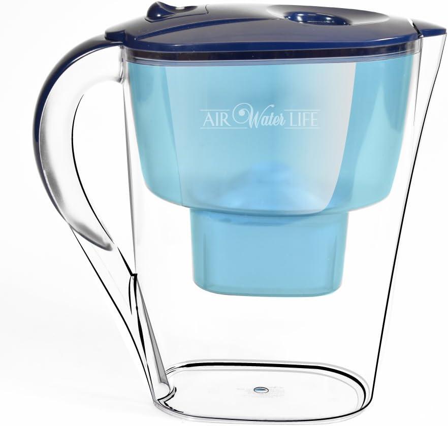 Aire Agua vida agua alcalina jarra | Instant alcalinas purificador de agua purificación de | gran jarra para agua alkalizing |high PH alkalizer jarra, ionizado, antioxidante agua para una mejor salud: Amazon.es: