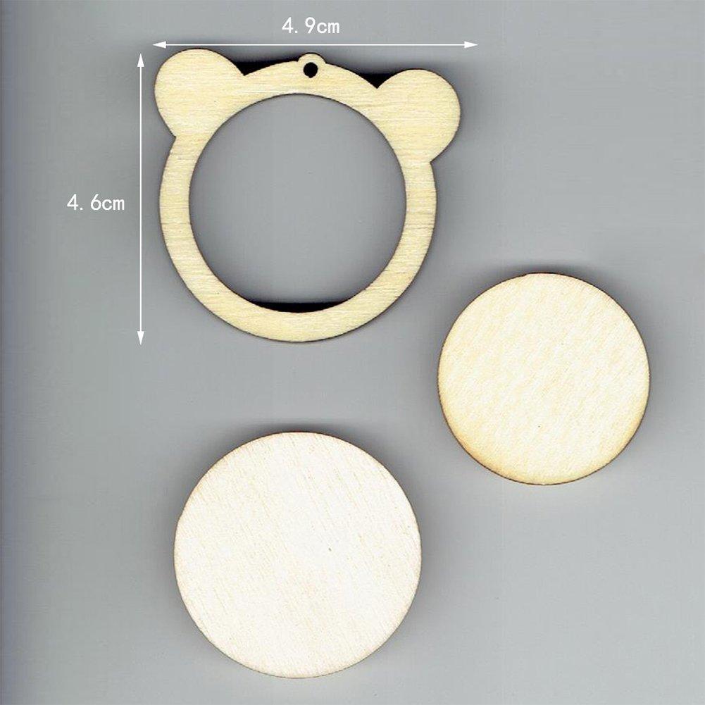 Zantec Mini marco de madera con punto de cruz para colgar en el marco de bordado bonitos lazos de decoraci/ón para regalo 4,9 x 4,6 cm