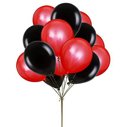 UTOPP 12quot Red And Black Helium Balloons Valentines Day Decoration Thick Latex Balloon 988 Oz