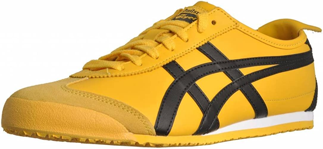 onitsuka tiger mexico 66 yellow black womens trainers tall