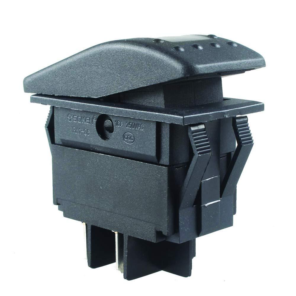 Frentaly Blue 12V 20 Amp Waterproof ON Off Custom Marine Boating Vehicle 4 Pin Control Toggle Rocker Switch Kit 3X Pack