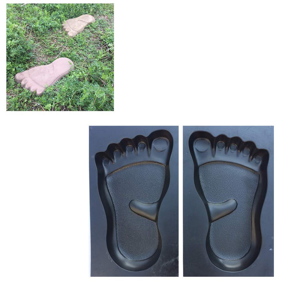 DIY Feet Pattern Walk Maker Concrete Stepping Stone Mold Reusable Patio Path Mold Maker Garden Lawn Paving Stone Mold 1pair