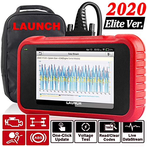 "LAUNCH OBD2 Scanner CRP123E Engine ABS SRS Transmission Code Reader 5""Touchscreen, Android 7.0, Wi-fi Free Update Scan Tool, Battery Test, Auto VIN, 5 Years Warranty- Upgraded CRP123 [2020 Elite Ver.]"