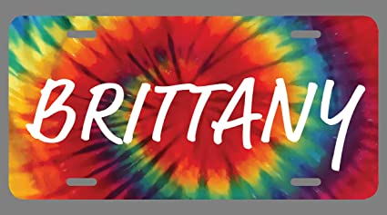 Britney Name Tie Dye Style License Plate Tag Vanity Novelty 6 By 12 inches