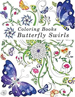 Coloring Books Adult Butterfly Swirls