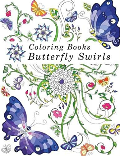 Coloring Books Adult Butterfly Swirls Amazonca Tip Top