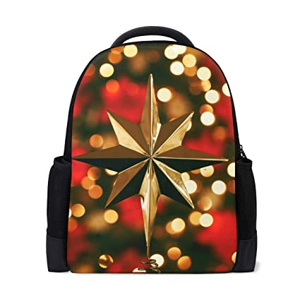 Image Unavailable. Image not available for. Color  Gold Star Tree Topper  Laptop Mens Womens Shoulder Bag boy Girl ... 50d1ac7fe9a1e